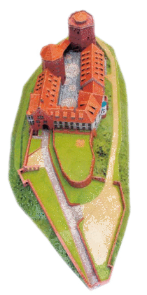 Papiermodell Burg Rieneck