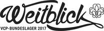 Schriftzug VCP-Bundeslager 2017 »Weitblick«