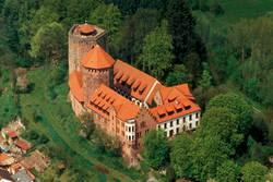 Luftaufnahme von Burg Rieneck